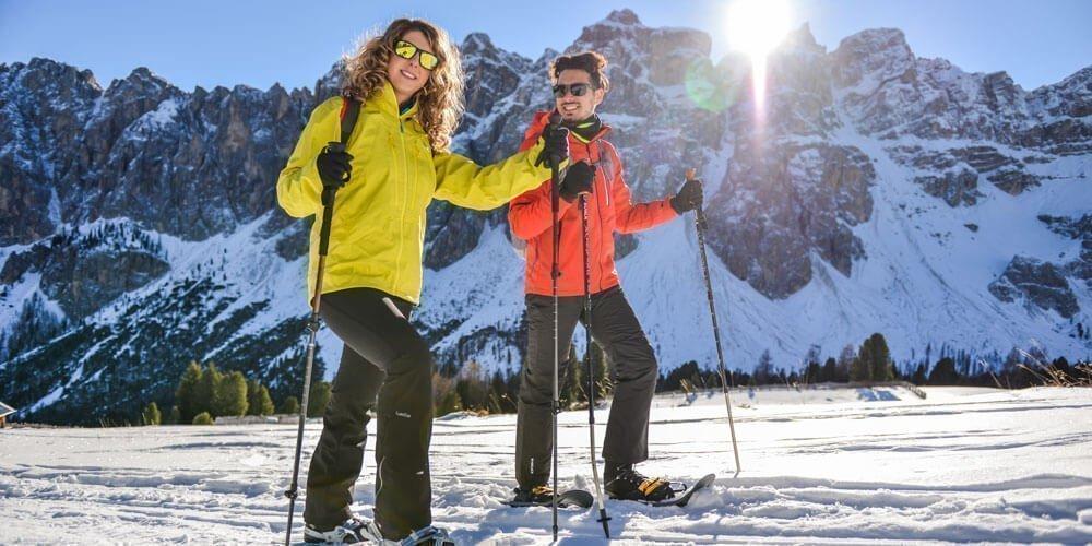 Schneeschuhwandern auf geführten Touren